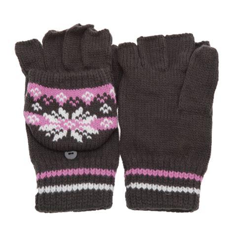 womens knit gloves womens knit design patterned capped fingerless