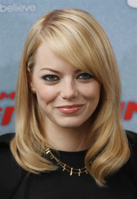 medium straight hairstyles with bangs 21 trendy hairstyles to slim your round face popular
