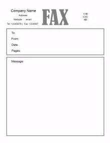 template for a fax cover sheet free fax cover letter template