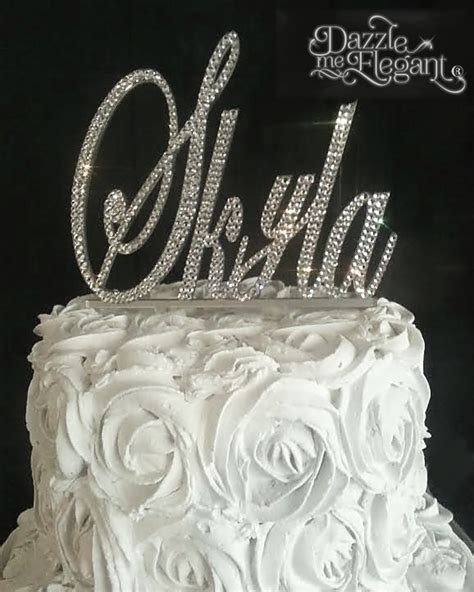 rhinestone cake toppers for wedding cakes name rhinestone birthday wedding cake topper