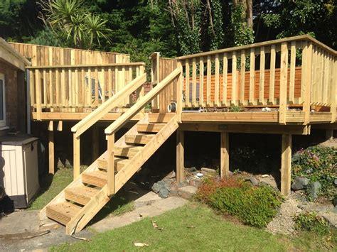 decking ideas for sloping garden garden carpentry timber decking design and build our