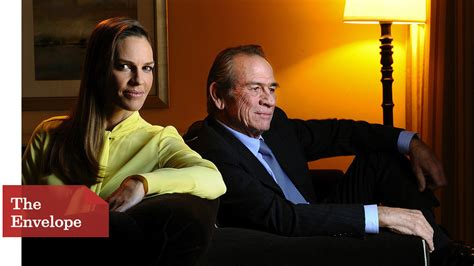 hilary swank and tommy lee jones tommy lee jones hilary swank admire the feminism in