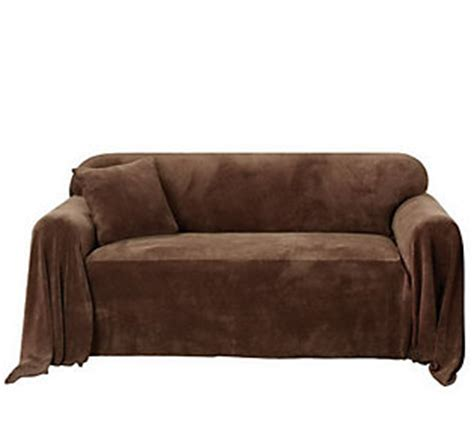 Sure Fit Plush Sofa Throw Cover Qvc Com