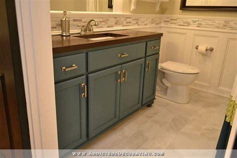 Redo Bathroom Cabinets - diy bathroom remodel before after
