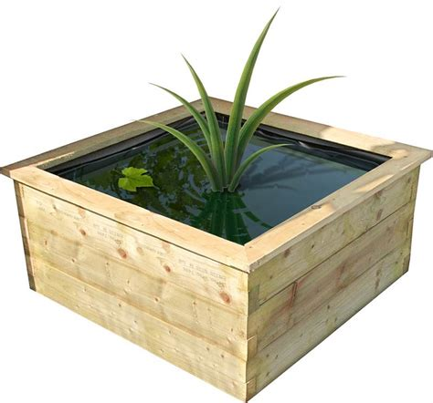Wooden Planter Liner by New Small Robust Raised Wooden Fish Pond Outdoor Feature