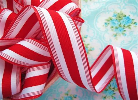 outdoor candycane ribbon stripe grosgrain ribbon