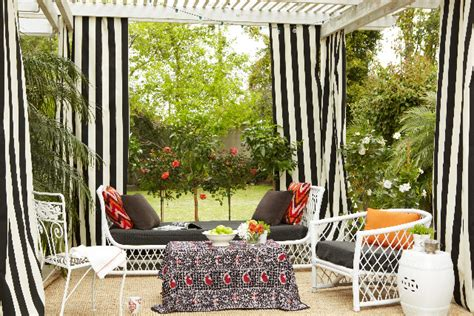 black and white striped outdoor curtains curtain dubai world of curtains furniture and decor