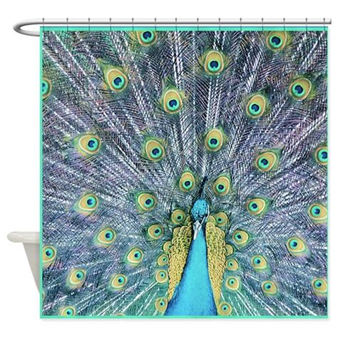 peacock colour curtains peacock shower curtain by mugglefunds