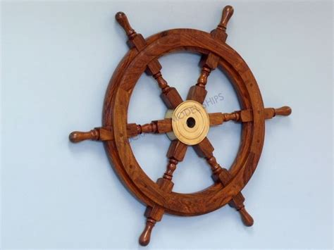 ship wheel decor buy deluxe class wood and brass decorative ship wheel 30