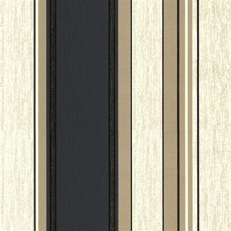 vymura synergy striped wallpaper cream gold black