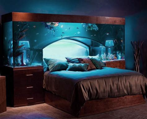 fish tank in bedroom awesome fish tank headboard design ideas for luxurious bedroom