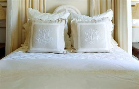 monogrammed bed pillows 1000 ideas about monogram pillows on pinterest throw