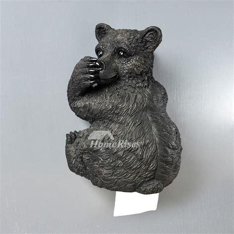 bear toilet paper holder black bear toilet paper holder funny wall mount