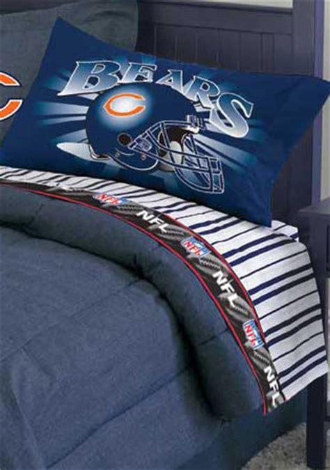 chicago bears bedding chicago bears queen size pinstripe sheet set