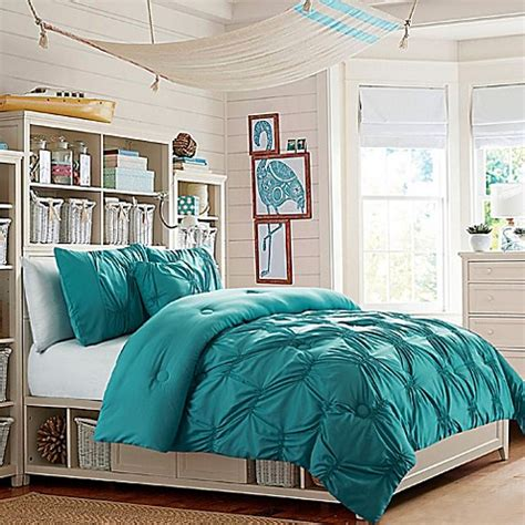 turquoise bed set buy vcny monica full comforter set in turquoise from bed bath beyond