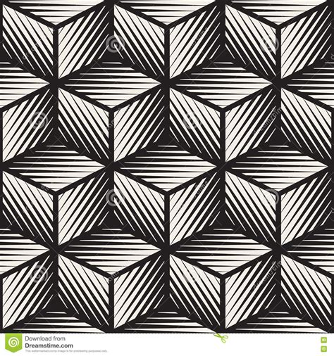 geometric patterns black and white lines vector seamless black and white cube shape lines