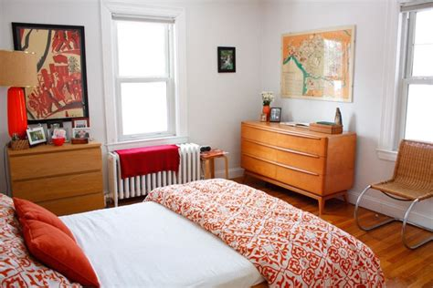 Orange Apartment Therapy Bedroom Rooms Pinterest
