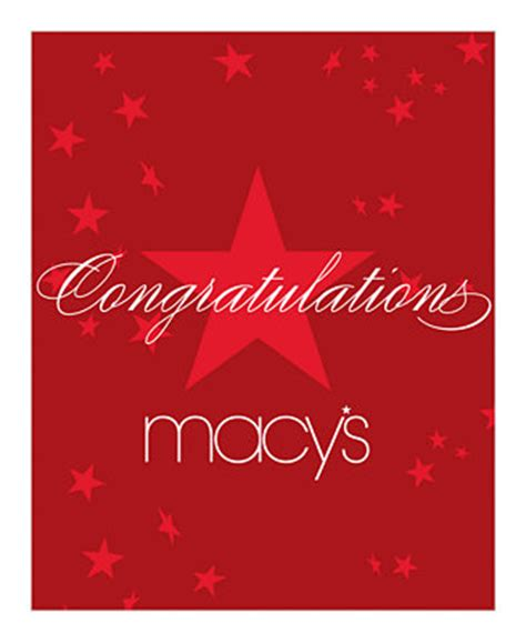 E Gift Cards Macy S - congratulations e gift card gift cards macy s