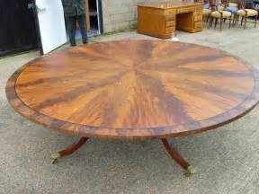 Antique round dining table huge round regency mahogany dining table
