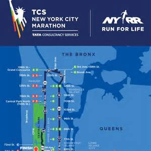 New York Marathon Course Map by Image Gallery Nyc Marathon Route 2015