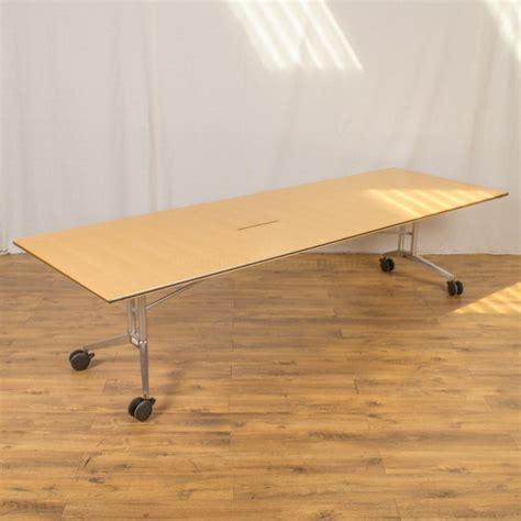 Folding Boardroom Tables Wilkhahn Confair Maple Veneer 3000x1000 Fold Up Boardroom Table