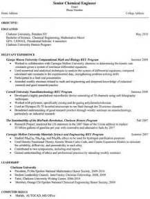 Chemical Engineer Resume Examples Engineering Resume Cv Template Resume Examples