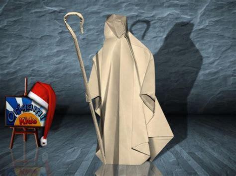 Origami Shepherd - origami shepherd nativity shepherd by max hulme