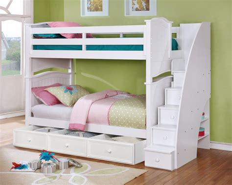 4 Bed Bunk Beds Beds With Awesome Built Ins Bedroom Furniture