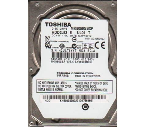 Hardisk Laptop Merk Toshiba 500gb toshiba 500gb laptop sata inernal hdd