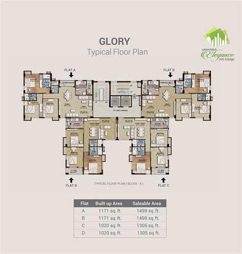 typical floor plan greenfield elegance layout plans