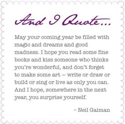coming year cute kiss neil gaiman new year image