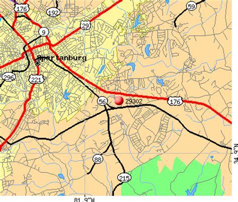 zip code map upstate sc 29302 zip code spartanburg south carolina profile