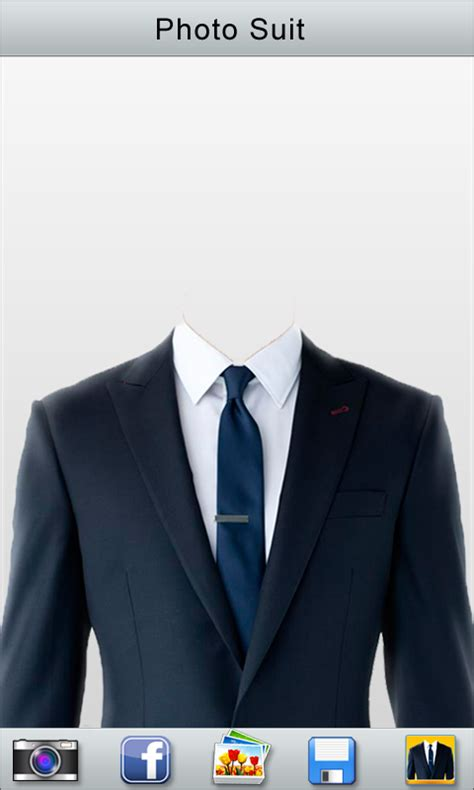 suit template with half length passport photo suit android apps on play