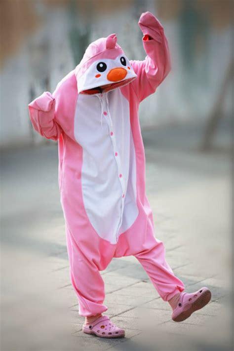 Pink Penguin pink penguin onesie animal costumes 4kigurumi