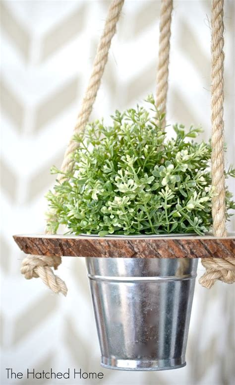 diy hanging plant pot 70 diy planter box ideas modern concrete hanging pot