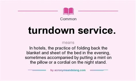 meaning of bed what does turndown service definition of turndown