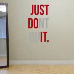 inspirational wall murals quot just dont quit quot gym workout motivation quote words vinyl