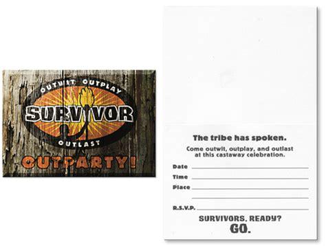 Survivor Party Invitations Cimvitation Survivor Invitation Template