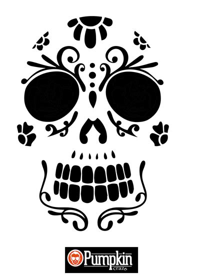 sugar skull design template 25 free pumpkin carving templates 2017