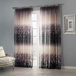 Sheer Bedroom Curtains Two Panels Curtain Country Bedroom Polyester Material
