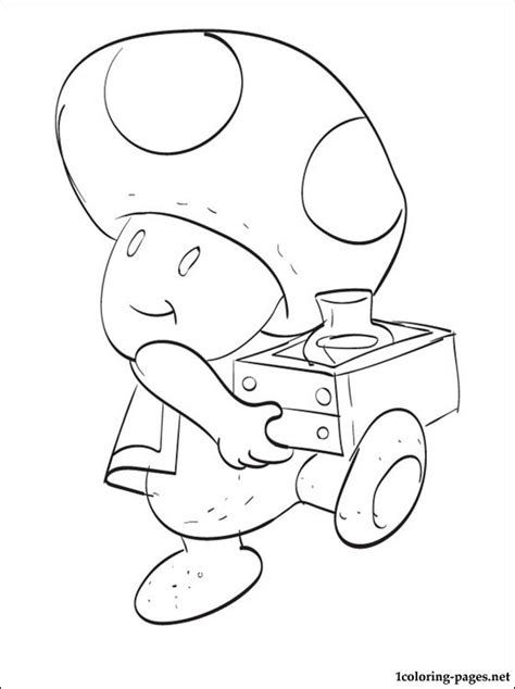 Toad Mario Brothers Coloring Pages Toad Mario Coloring Pages