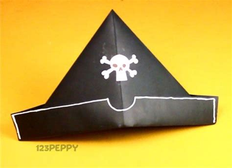 Pirate Hat Origami - how to make an origami pirate hat best 25 pirate hat