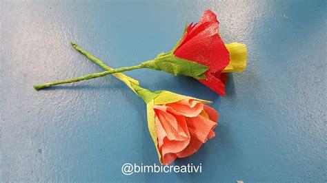 fiore carta crespa fiori con la carta crespa bimbi creativi