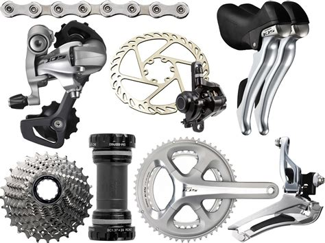 shimano 105 group set 5800 shimano 105 5800 silver 11 speed double disc groupset