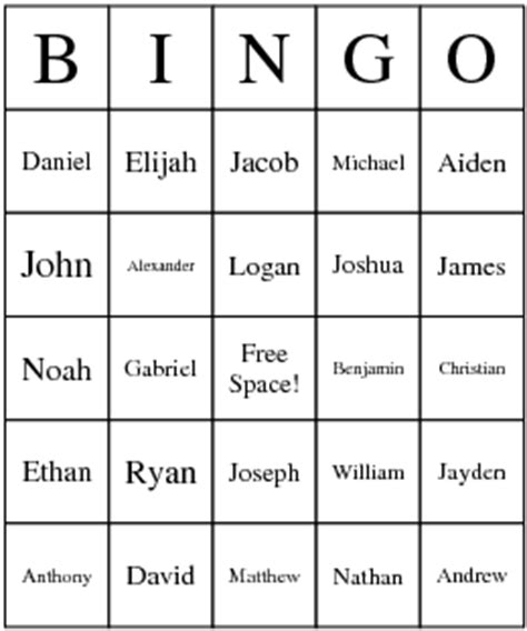 baby name bingo | friend for the ride