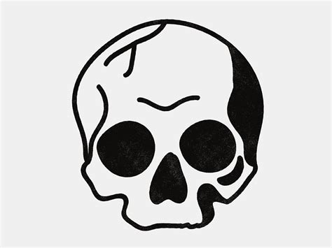 simple blackwork skull simple illustration easter and