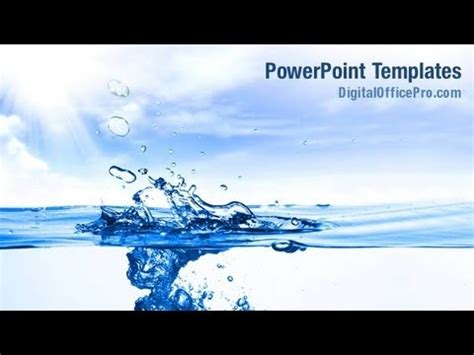 templates powerpoint free download water crystal clear water powerpoint template backgrounds