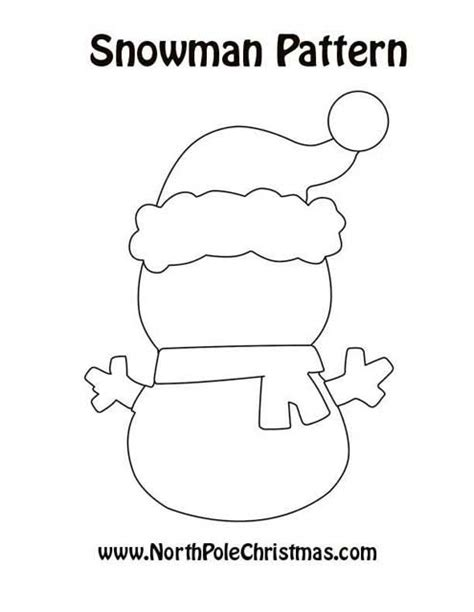 snowman cut out template printable snowman hat patterns patterns kid