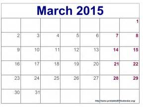 Calendar March 2015 Printable March 2015 Calendar Printable Gameshacksfree