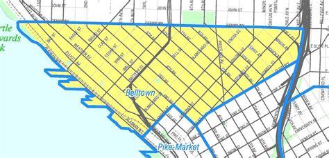 seattle map belltown file seattle belltown map jpg